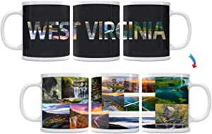 Color Changing! State Landscapes ThermoH Exray Ceramic Coffee Mugs (State of West Virginia)