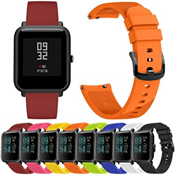 Huami Amazfit Bip - Correa de reloj de pulsera para jóvenes, correa de silicona suave