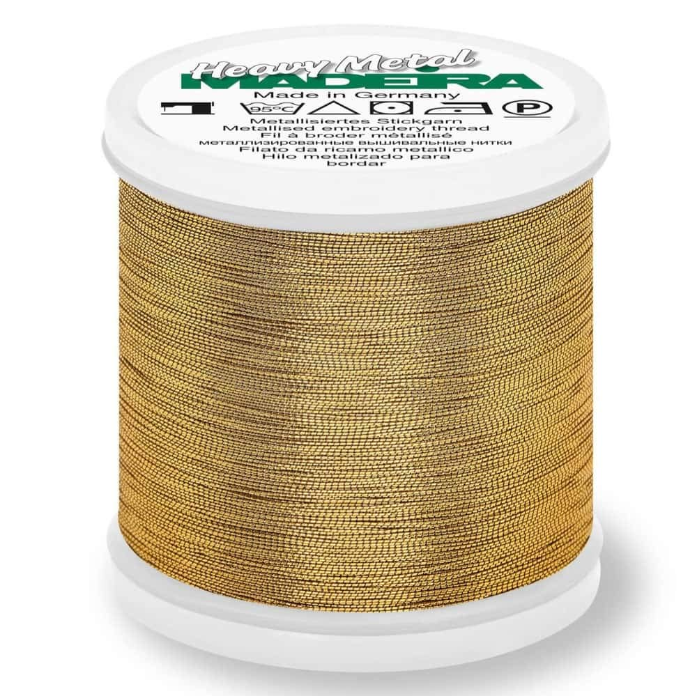 Madeira Metallic Heavy Metal Sewing and Embroidery Thread 200m Colour 6030 Silver