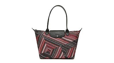 Longchamp Le Pliage Op art Medium Nylon Tote Handbag L2605647545 ... 7177cdc6dcf8b