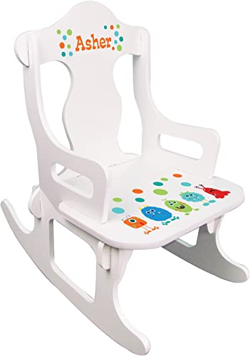 Personalized Child's Monster Puzzle Rocking Chair
