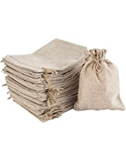 Irich 30 Pcs Burlap Bags with Drawstring, Resusable Jute Gift Bags forJewelry Favors, Wedding Favor, Diy Craft Padding, Christmas Gift Bags, Halloween Gift Bags