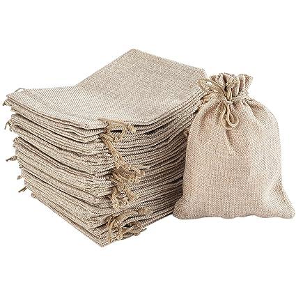 Irich 30 Bolsas de Regalo de arpillera, cordón Reutilizable ...