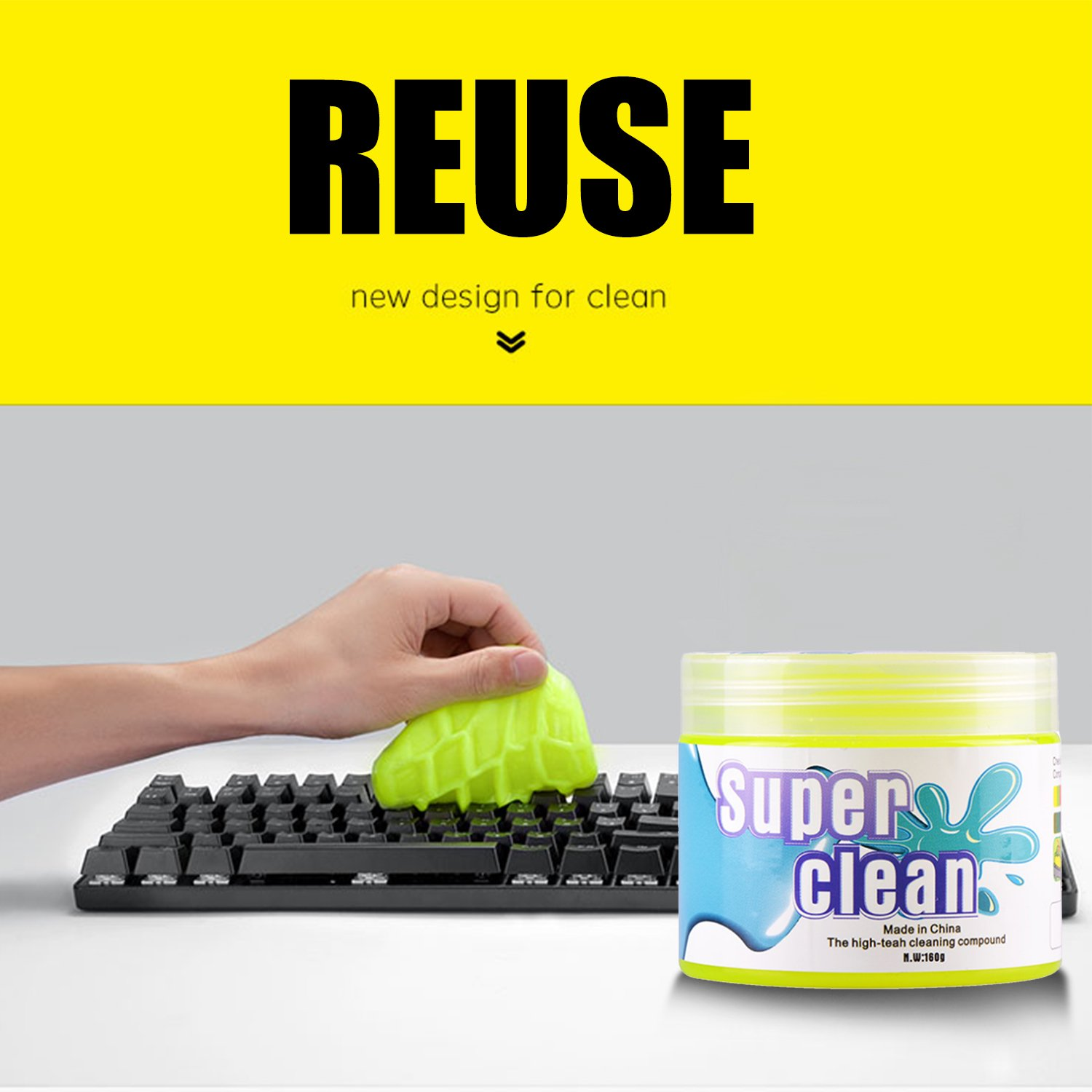 Magic Keyboard Cleaning Mud Laptop Home Furniture Dust Remove Soft Sticky Cleaning Glue Car Interior Reusable Cleaning Gel Disinfect Tool Home Use