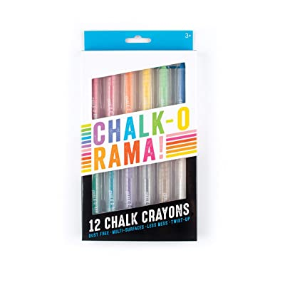 OOLY, Chalk-O-Rama, Set of 12 Chalk Crayons: Ooly, LLC: Office Products