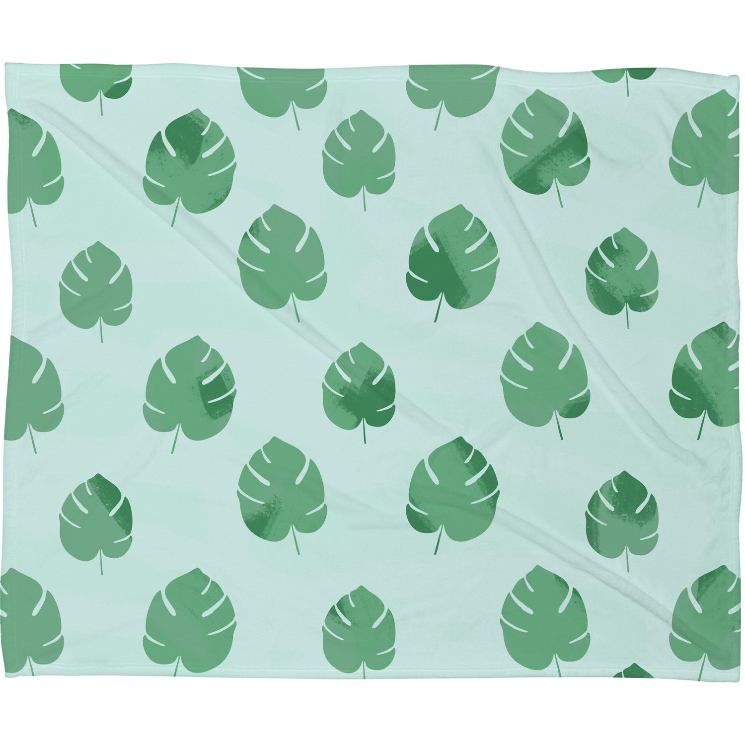 Deny Designs Palm Spring Leaves Plush Fleece Throw Blanket 50 X 60