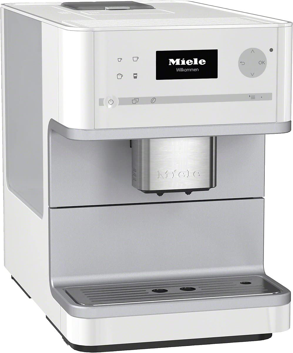 Miele CM 6100 - Cafetera (Integrado, Color blanco, Goteo, Granos ...