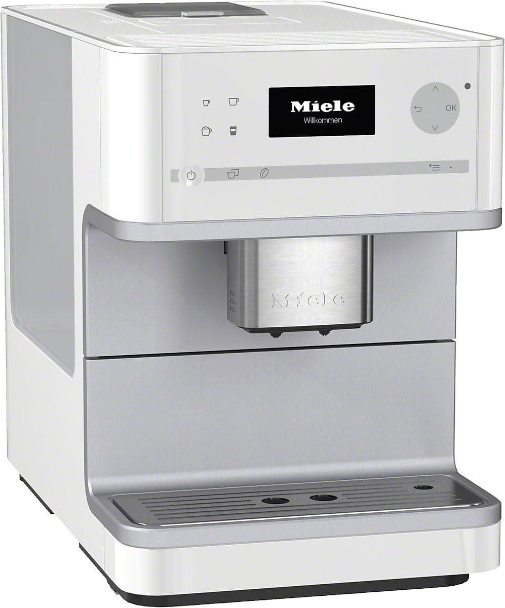 Miele CM 6100 - Cafetera (Integrado, Color blanco, Goteo, Granos de café, De café molido, Café con leche, Capuchino, Café, Café expreso, Leche caliente, Latte macchiato, 1,8L): Amazon.es: Hogar