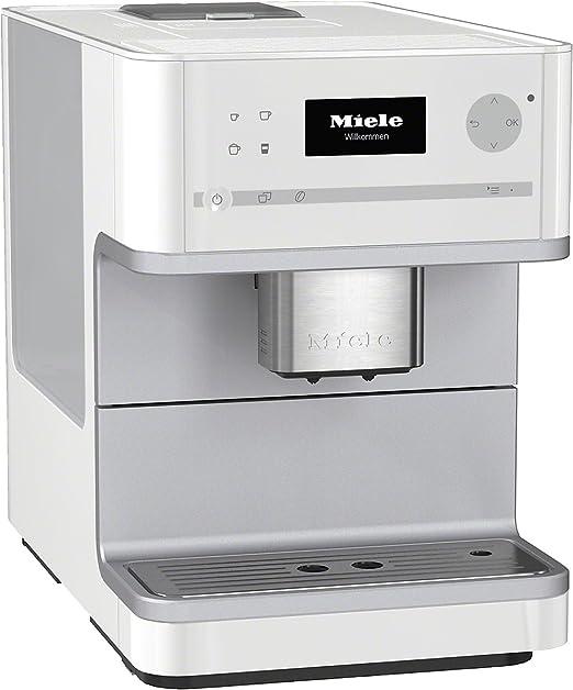 Miele CM 6100 - Cafetera (Integrado, Color blanco, Goteo, Granos ...