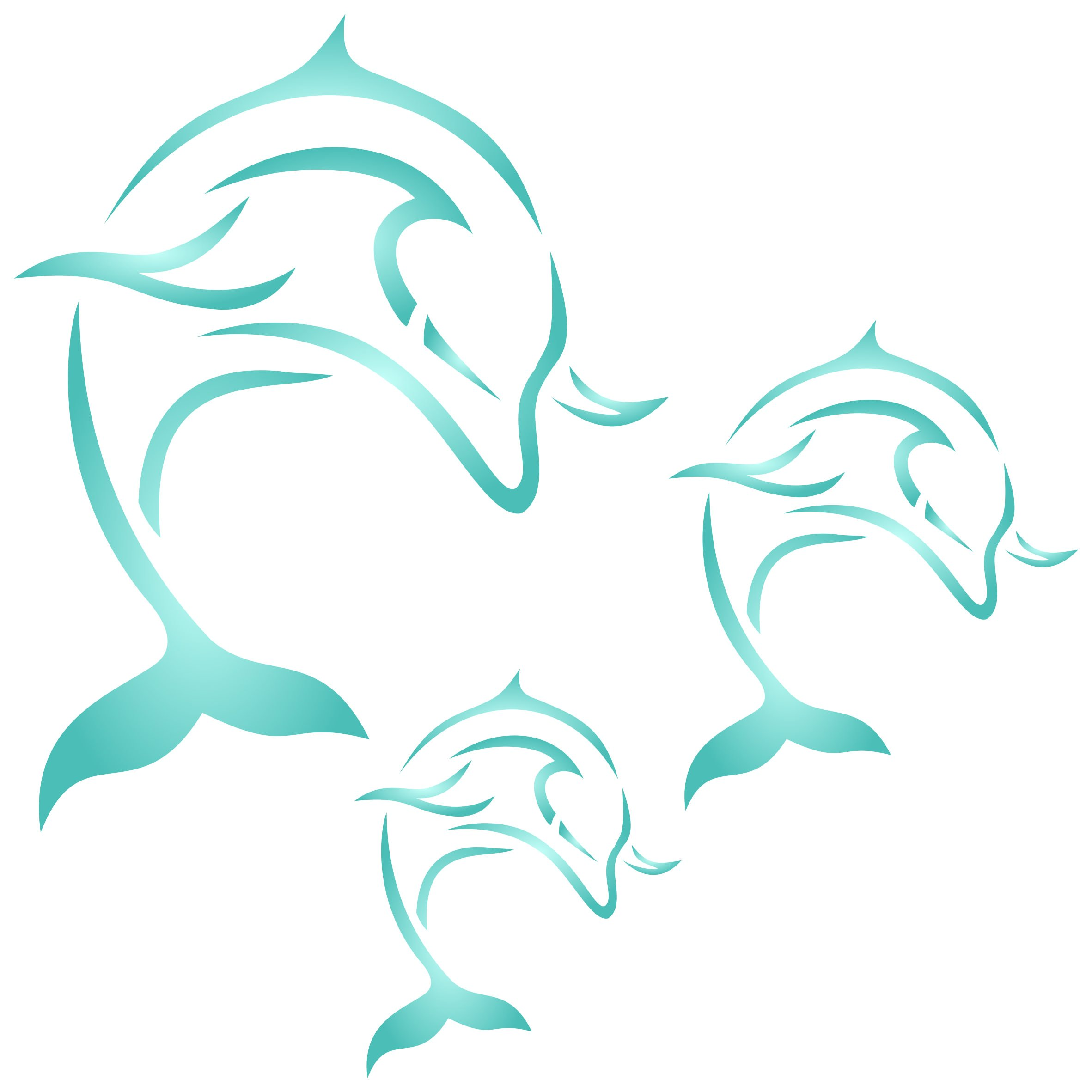 Dolphin Mural Stencil - (size 6.5''w x 6.5''h) Reusable Wall Stencils for Painting - Best Quality Decor Ideas - Use on Walls, Floors, Fabrics, Glass, Wood, and More... by Stencils for Walls