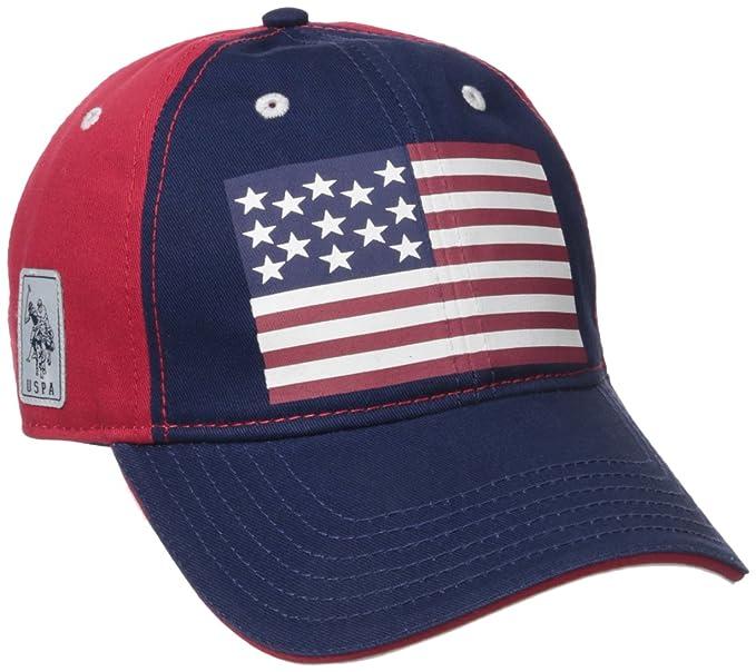 U.S. Polo Assn... - Gorro de béisbol con Bandera Estadounidense para Mujer e92eefb580e