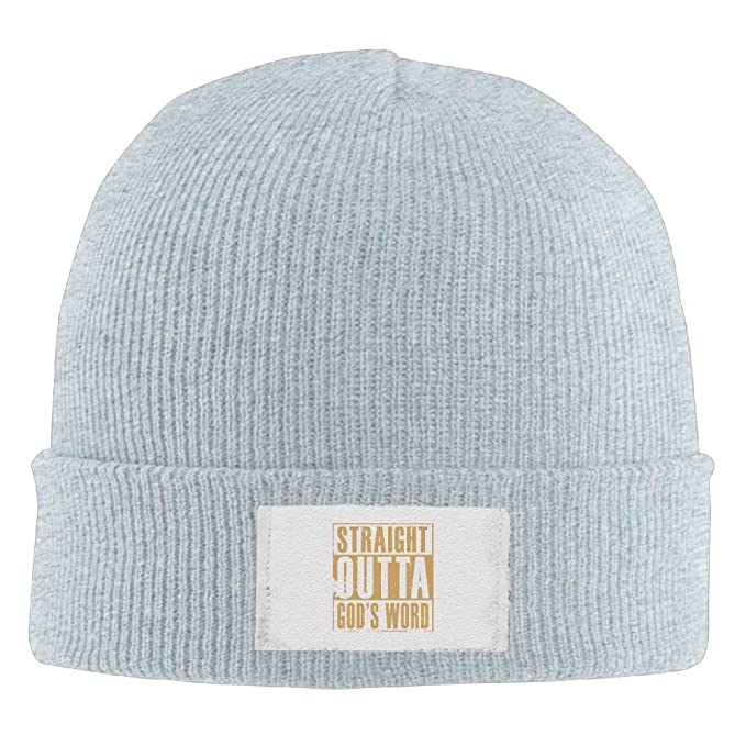 42cd3237544 Straight Outta God s Word Brim Beanie Hats Cool Knit Cap Winter Crochet  Classic