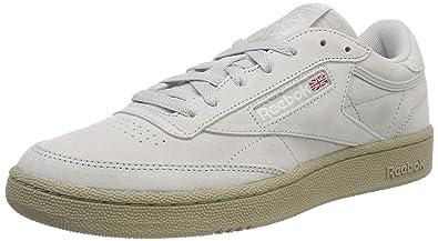 60e8604b1 Reebok Men's Club C 85 Mu Gymnastics Shoes, Nm/Skull Grey/Super Neutral