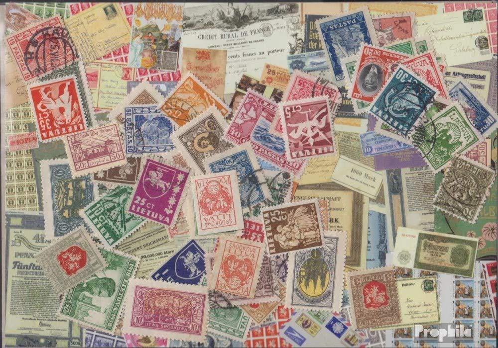 Prophila Collection Lituania 150 Diferentes Sellos hasta 1940 (Sellos para los coleccionistas)