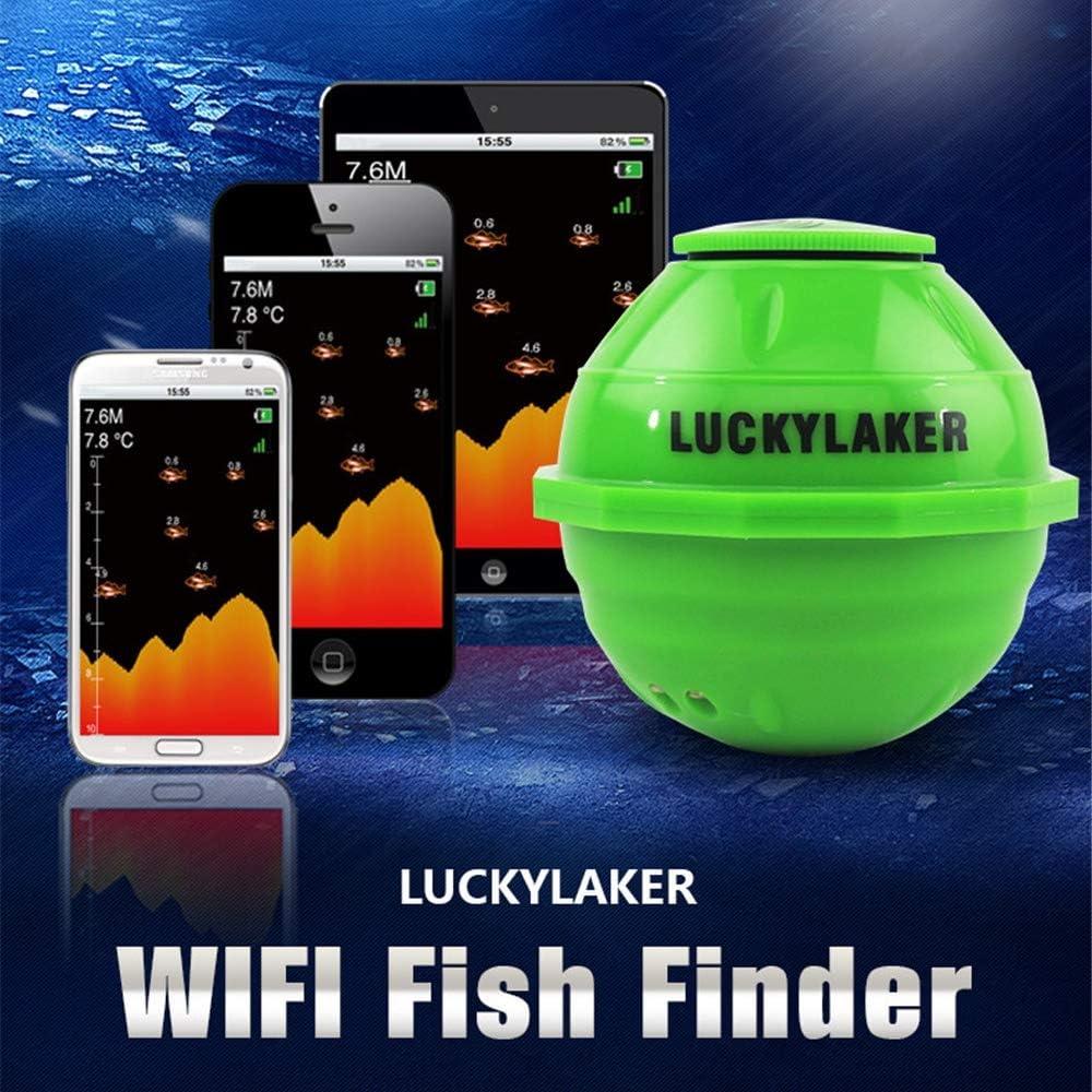LoMe Detector de Peces Inteligente de teléfono móvil WiFi, Sonar Detector de Peces inalámbrico Pesca Visual Detector de Profundidad portátil, Peces Inteligentes a Prueba de Agua: Amazon.es: Hogar