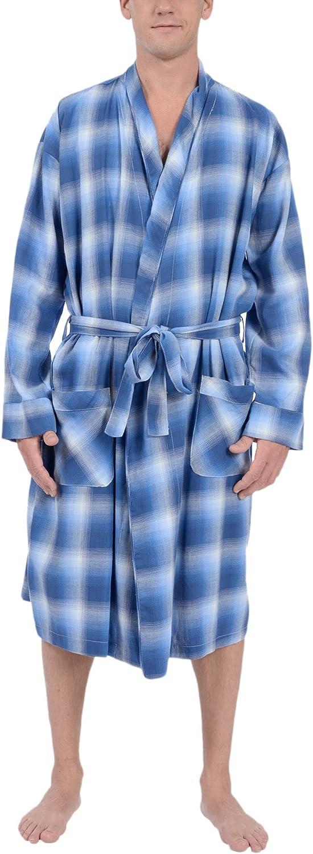 Platinum Sleepwear Men's Woven Flannel Robe