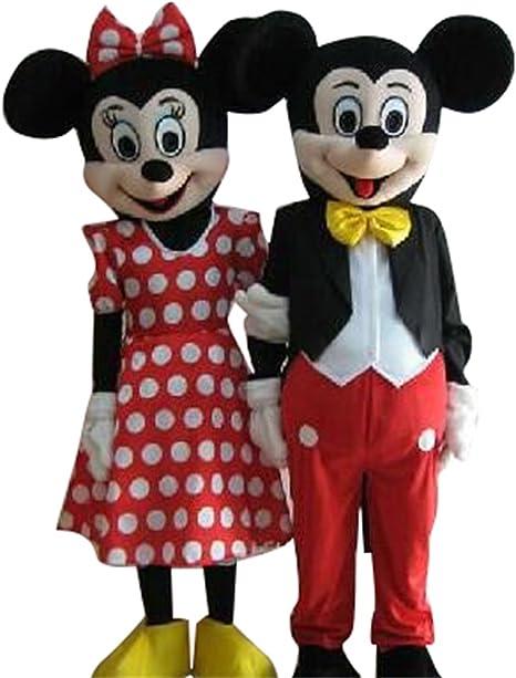 Sinoocean Disfraz de Mickey Mouse y Minnie Mouse para adultos ...