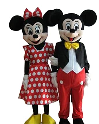 Sinoocean Mickey Mouse and Minnie Mouse Adults Mascot Costumes Cosplay Fancy Dress Outfits (Mickey Mouse  sc 1 st  Amazon.com & Amazon.com: Sinoocean Mickey Mouse and Minnie Mouse Adults Mascot ...