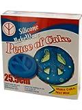 Kole Imports UU801 Silicone Peace Sign Cake Mold, Multicolor