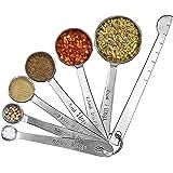 Messlöffel 7 Teillig aus rostfreiem Edelstahl Messloeffel Set für Kochen, toller Küchenhelfer (Alt)