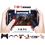 Mobile Game Controller[Upgrade Version],Xinyun Sensitive Shoot and Aim Keys L1R1 and Gamepad for PUBG/Knives Out/Rules of Survival, Mobile Gaming Joysticks for Android IOS(1Pair+1Gamepad)