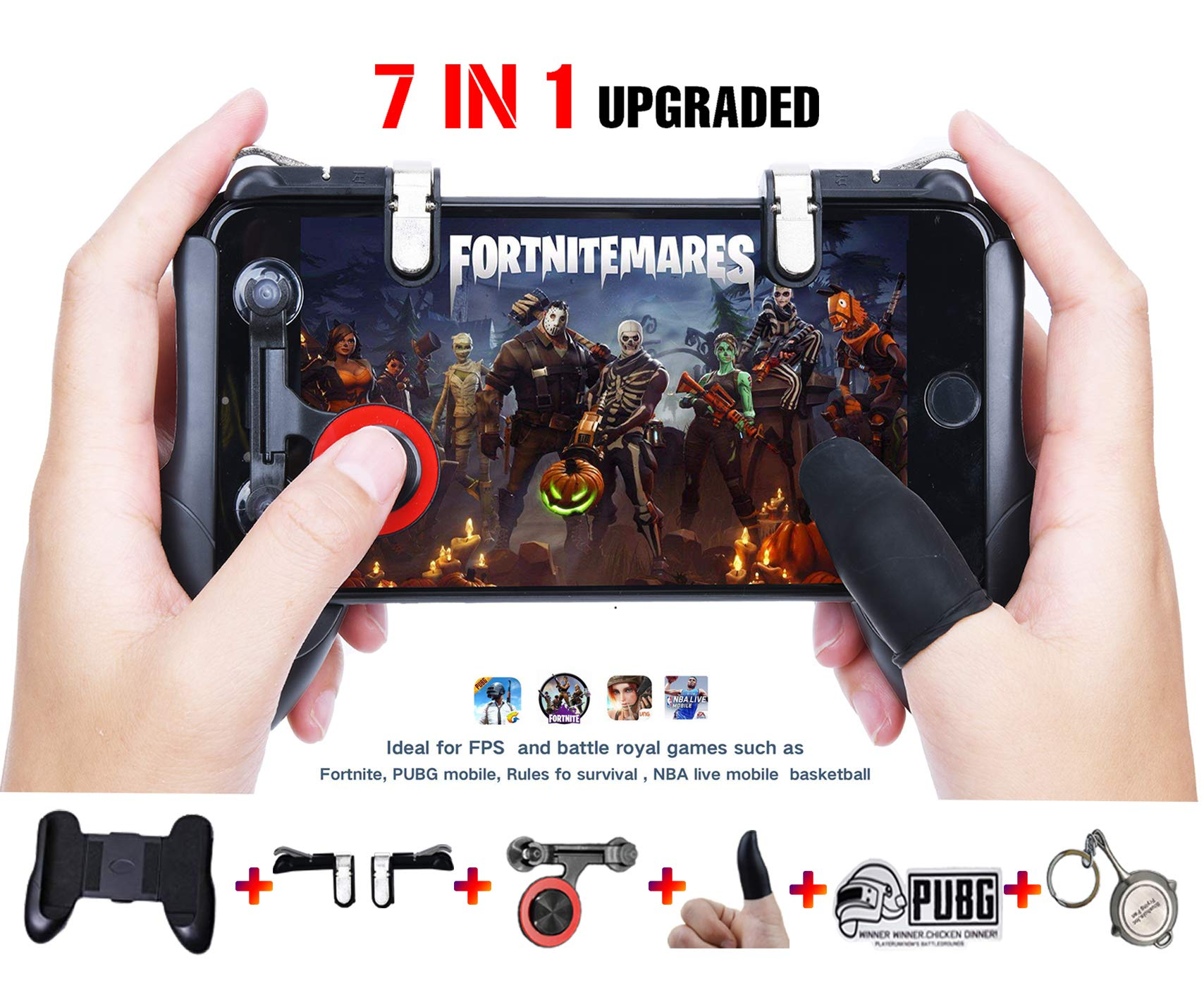 Mobile Game Controllerupgrade Version Ef Bc Cxinyun Sensitive Shoot And Aim Keys Lr And