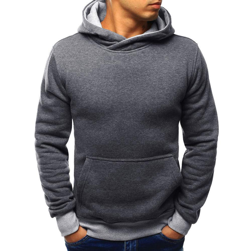 Cathalem Men/'s Tops Casual Pullover Hoodie Long Sleeve Hooded Basic T-Shirt Slim Fit Sweatshirt