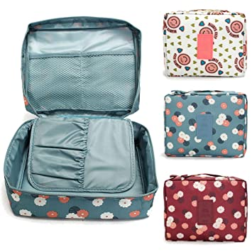 d7f5b0b10d Buy Maharaj Mall Mall Travel Cosmetic Bag Cum Makeup Organizer with Cosmetic  Pouch Travel Hand Bag Online at Low Prices in India - Amazon.in