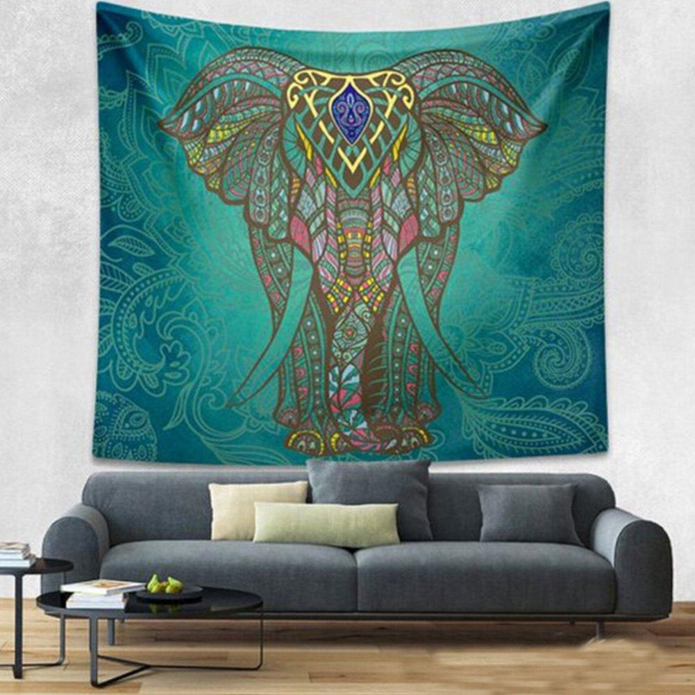 Amazon.com: CHICVITA Elephant Tapestry Wall Hanging Decor Indian ...