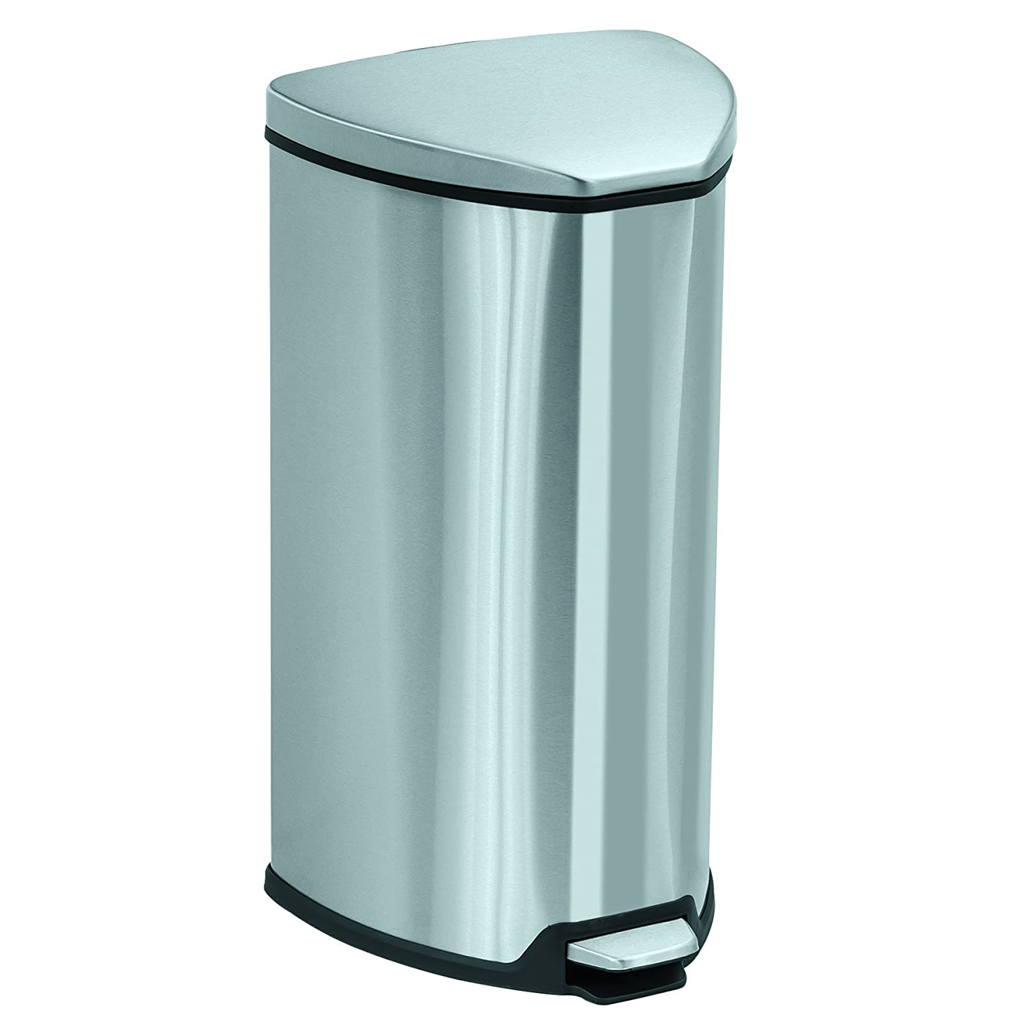 Amazon.com: Safco Products 9687SS Stainless Step-On Trash Can, 10 ...