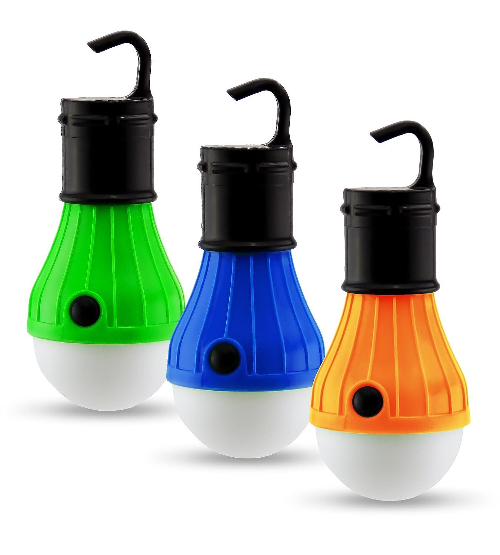 Astorn 3 PC Outdoor Light Set for Tents & Camping | LED Light Bulbs Outdoor Lantern Lights | Battery Powered Camping Lights | Portable Outdoor Lighting Set
