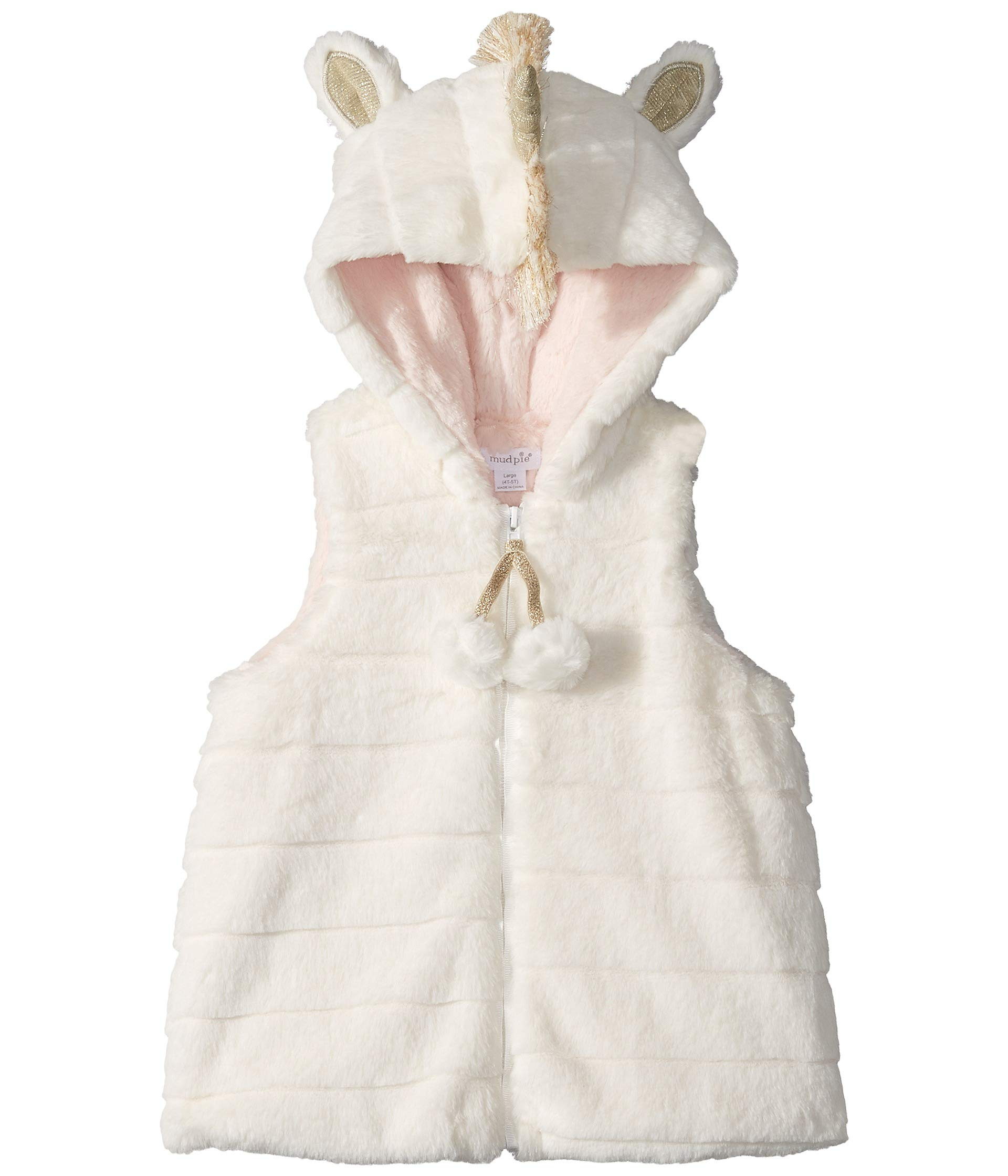 Mud Pie Baby Girl's Unicorn Vest (Infant/Toddler) Cream LG (4T-5T Toddler) by Mud Pie