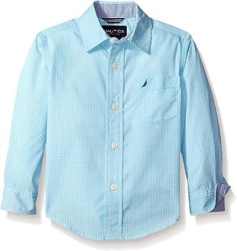 Nautica - Camisa - para niño Azul Turquesa Claro: Amazon.es: Ropa y accesorios