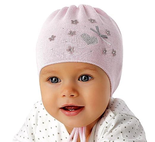 Marika Baby Mädchen Strickmütze Taufe Frühling Sommer Festlich Neu Weiß Blumen