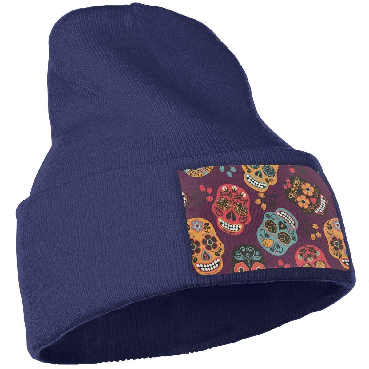 Z-YY Skull Unisex Winter Knitting Woolen Hat Warm Cap