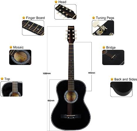 Guitarra Acústica Tamaño Cadete 3/4, para iniciar a niños y ...