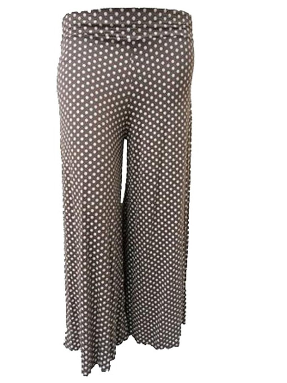 GirlzWalk ® Ladies Women Polka Dot Spot Full Length Palazzo Trouser Pants Leggings