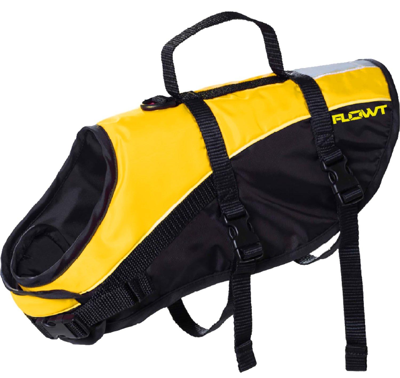 Flowt Dog Life Vest 40903-M Dog Life Vest, PFD, Yellow, Medium,