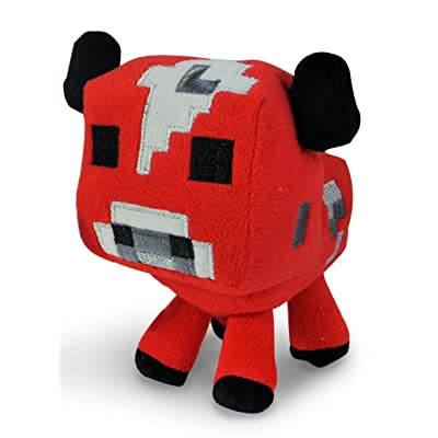 "Minecraft Baby Mooshroom Plush"" Minecraft Animal Plush Series: Toys & Games"