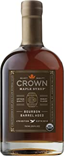 product image for Crown Maple Bourbon Barrel Aged organic maple syrup 750ML (25 FL OZ)