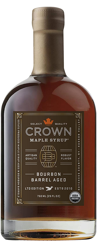 Crown Maple Bourbon Barrel Aged organic maple syrup 750ML (25 FL OZ)
