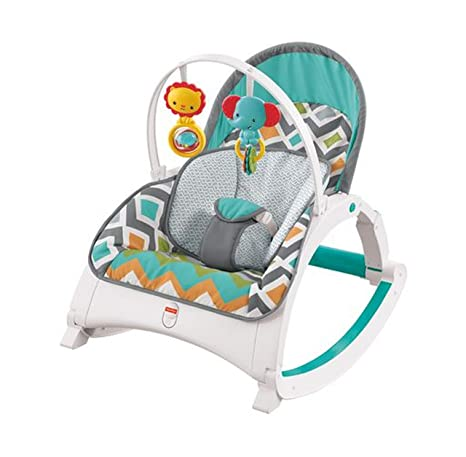 6d50b2f31 Fisher-Price Newborn-to-Toddler Rocker, Glacier Wave: Amazon.com.mx: Bebé