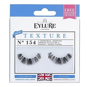 f76dfb72cbf Amazon.com : Eylure Texture False Lash Eyelashes, Style No. 154, Reusable,  Adhesive Included, 1 Pair : Beauty