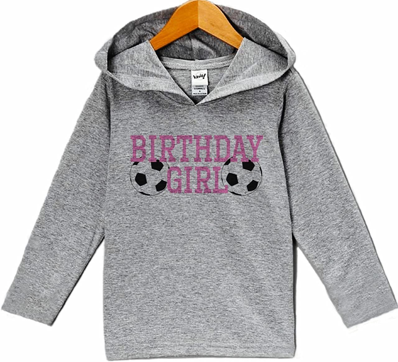 7 ate 9 Apparel Girls Soccer Birthday Hoodie