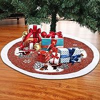 Surfmalleu Falda de árbol de Navidad de Terciopelo