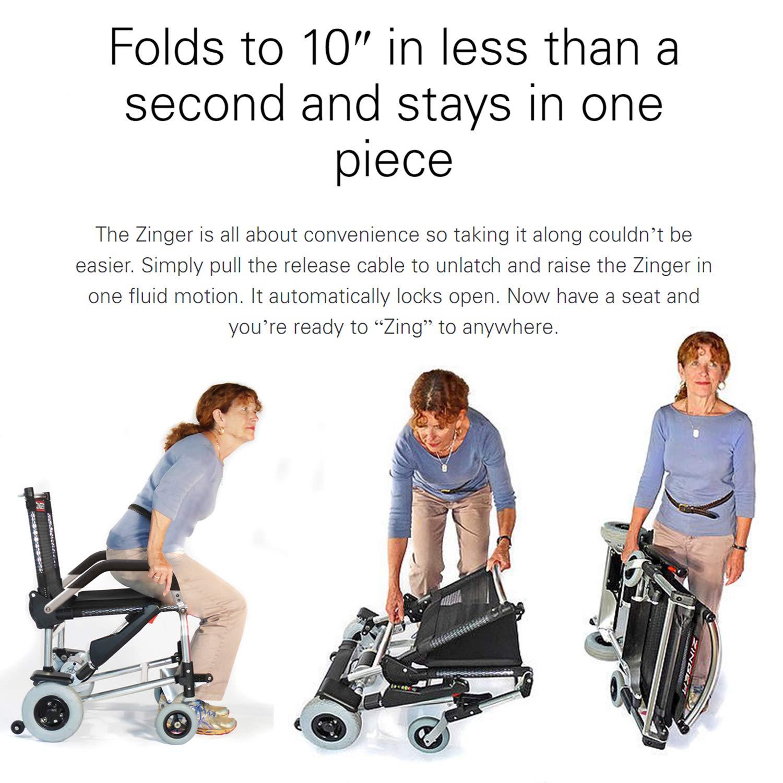 Amazon.com: Zinger Chair, Ultra-Portable Motorized Mobility ...