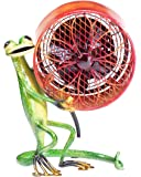 Decobreeze Table Fan TwoSpeed Electric Circulating Fan, Gecko Figurine Fan