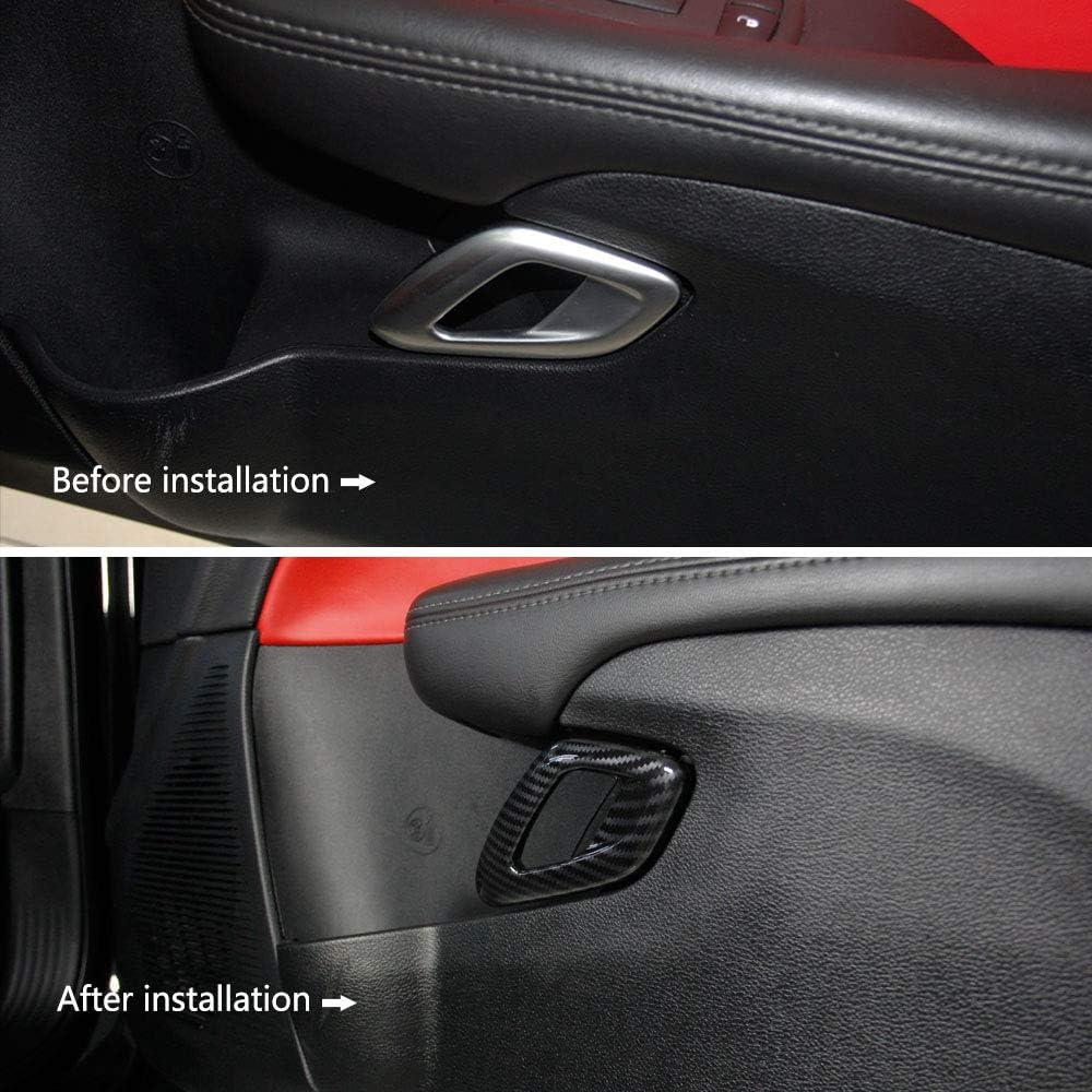 FangFang Puerta Interior Color De Fibra De Carbono Manija De Tracci/ón Interior De Ajuste De Ajuste para BMW 3 4 Series F30 F31 F32 F33 F34 F35 F36 F80 F82 F83 2013-2 Color : As pic
