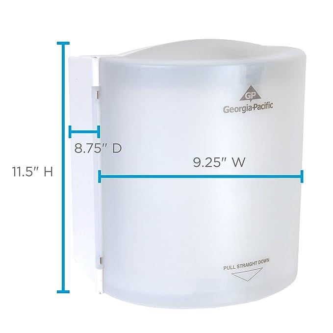SofPull Centerpull Regular Capacity Paper Towel Dispenser by GP PRO, Translucent White, 58237, 9.250