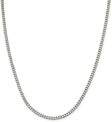 925 Sterling Silver 3mm Rhodium-plated Childrens Medical ID Curb Link Chain Bracelet